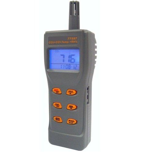 Портативный газовый детектор / термогигрометр CO2/CO/RH/T  - AZ-77597