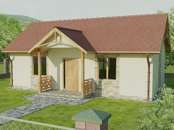 """Buy Project of the house """"Humming-bird"""", 54 m ²"""