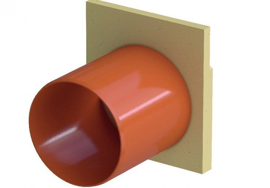 Торцевая заглушка Асо self для каналов  с водоотводом DN60 Артикул 810201 Германия