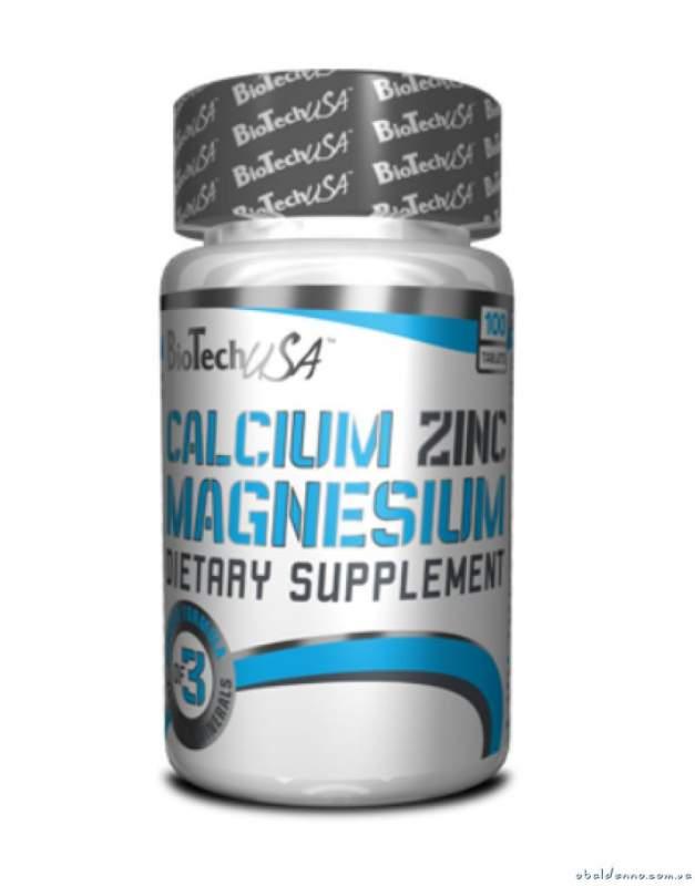 Купить Витамины и минералы BioTech Calcium Zinc Magnesium 100 таблеток