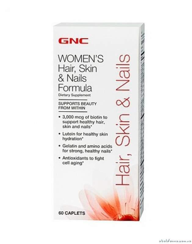 Vitamins And Minerals Of Gnc Hair Skin Nails Formula Of 60