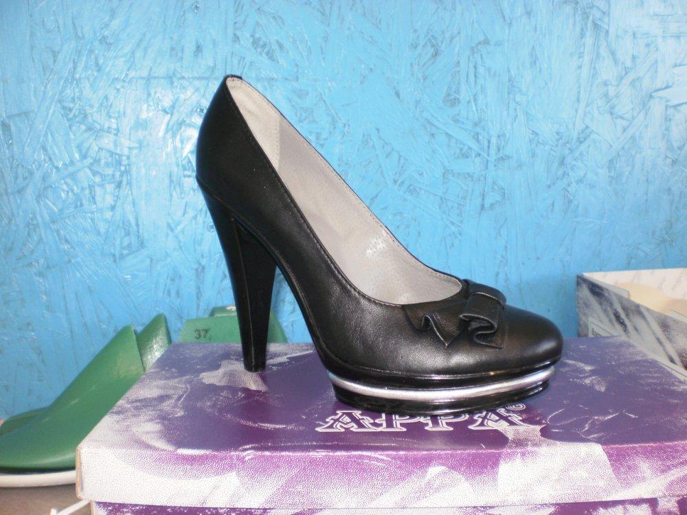 Туфлі шкіряні на каблуці купити в Дніпро e1dc0ef9848a1