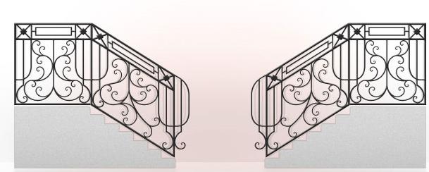 Купить Кованые лестницы под заказ в Житомире и доставкой по Украине, кованные изделия для сада и домашнего интерьера