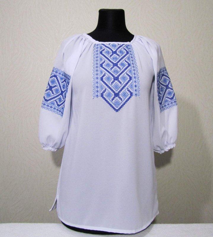 Жіноча блузка рахунковою гладдю на шифоні купити в Київ 24eeb56b6ef4b