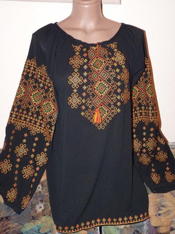 Жіноча блуза вишиванка на шифоні купити в Київ 31ab8429e0617