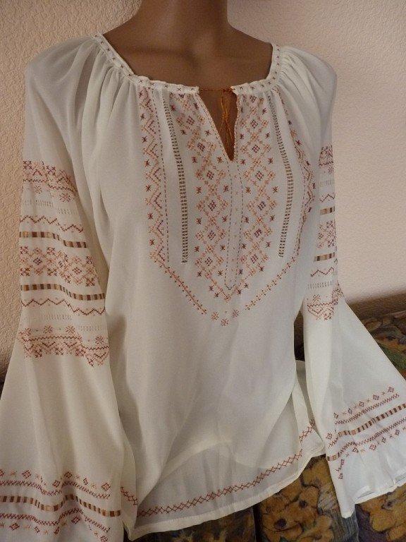 Жіноча сорочка вишиванка на шифоні купити в Київ 5b7753ea1157a