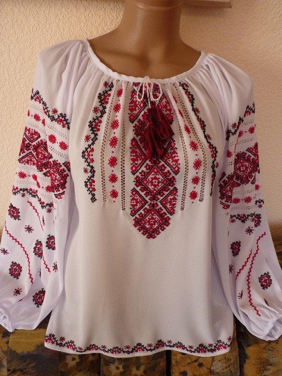 Жіноча блузка вишиванка на шифоні купити в Київ 833fac7d004a1