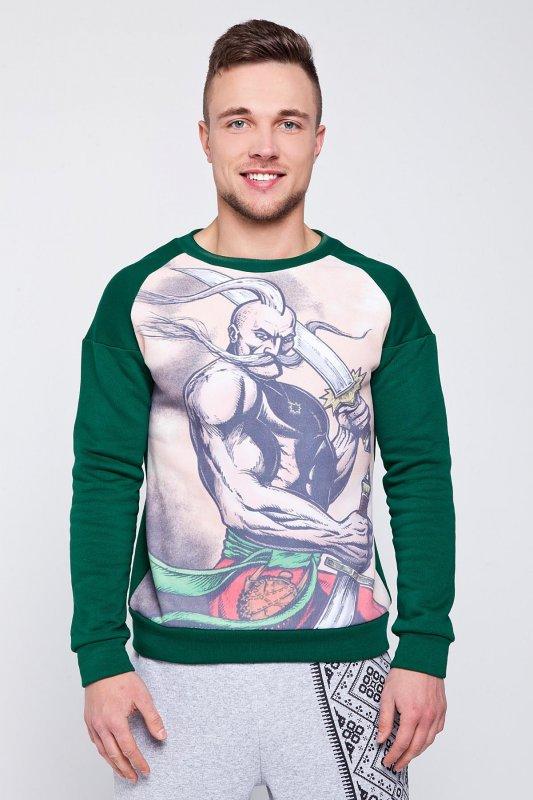 Buy Men's sweatshirt with the Cossack's portrai
