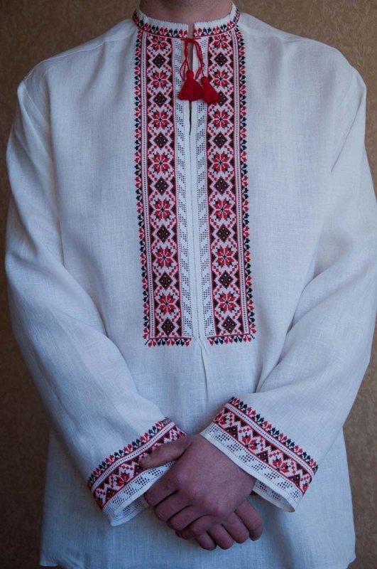 Чоловіча вишиванка ручної роботи чорно-червона купити в Київ 6167ccefb2ea1