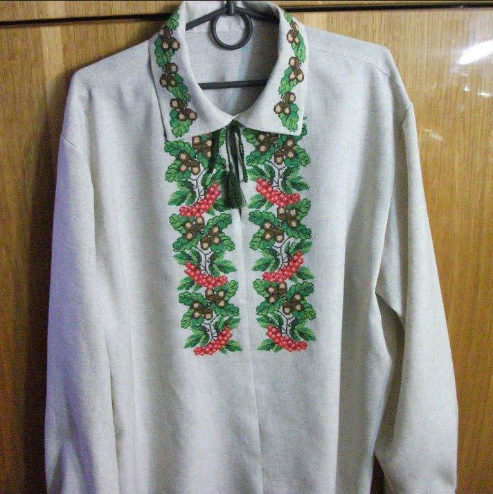 Чоловіча вишиванка ручної роботи українська купити в Київ d87854fe38cc7