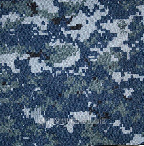 Купити Смесовая тканина розцвічення navy digital camouflage.