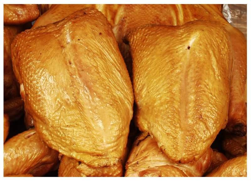 Копчение куриных грудок в коптильне горячего копчения