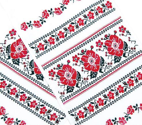 Украинский вышитый рушник.