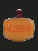 "Бутылки стеклянные, Штоф ""Бочка"" 0.5 л"