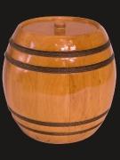 Бочонок под мед  с банкой под крышку twist-off, деревянная крышка Материал: ясень Объем: 0.5 л