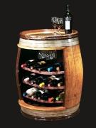 Мини-бар в виде бочки для хранения алгокольных напитков