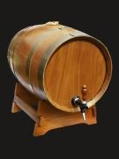 Бочка на подставке без колбы; с краном; для хранения вина/коньяка 3Л
