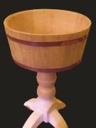Чаша на подставке, дуб/ясень/сосна