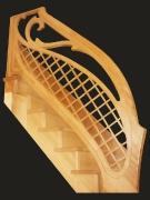 Лестница прямая (маршевая) дуб