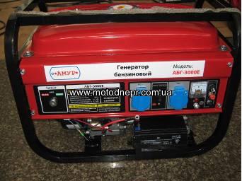 Генератор бензиновый Амур АБГ-3000/E 2,5/2,8 кВт эл. стартер