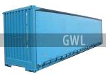 Контейнер 40 футов с боковыми раскрытиями, контейнер 40футов с боковыми дверьми
