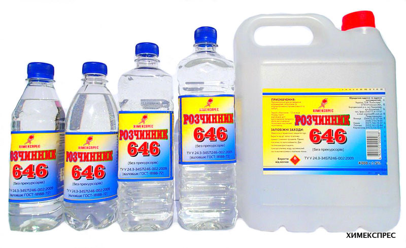 Solvent 646 (without precursors)