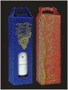 Пакеты упаковочные для вина, Pudelko-na-wino-z-raczka-i-wzorem-wypuklym