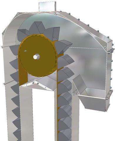 Элеватор нория купить встроенный верхний транспортер на швейной машине