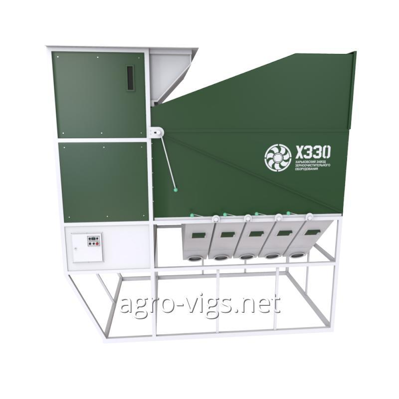 Aerodynamic grain separator ISM-100, primary grain cleaning