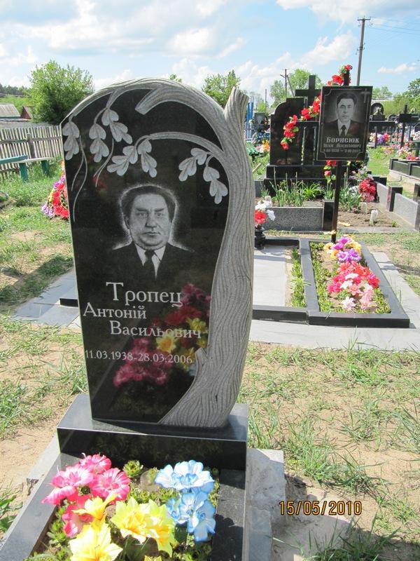 Купить Гранитный памятник с нанесением под заказ. Надгробия из гранита. Кресты из гранита Киев и Житомир.