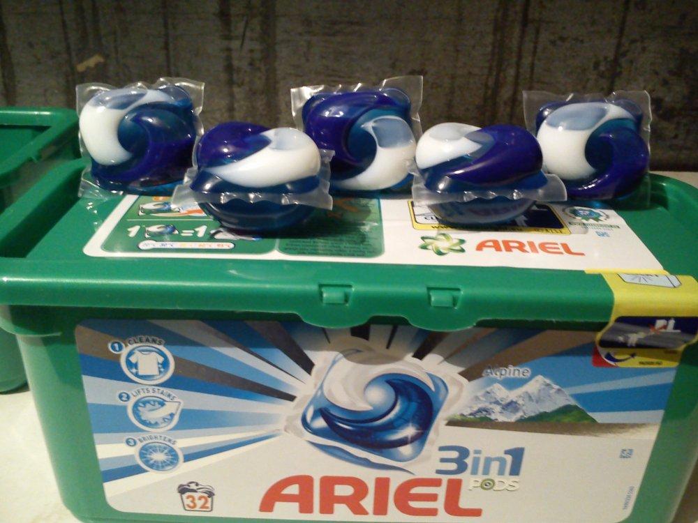 Купить Капсулы для стирки ARIEL 3 в 1 с ополаскивателем