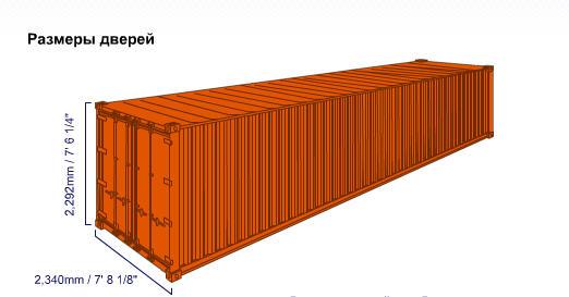 Купить Стандартный 40-футовый контейнер