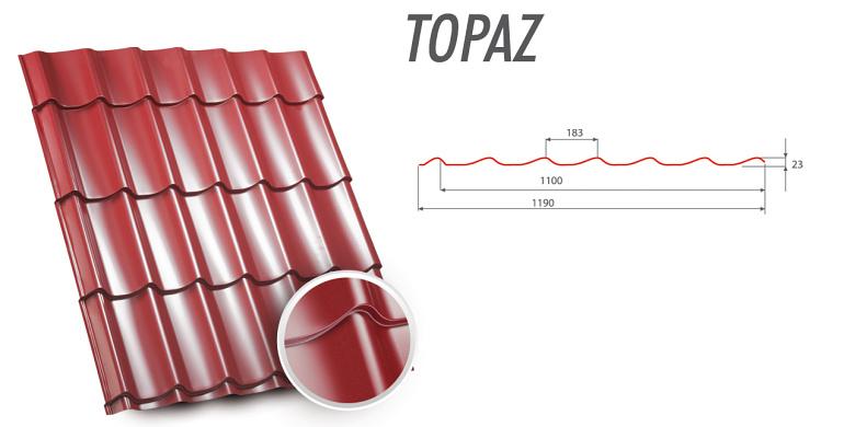 Купить Металлочерепица TOPAZ