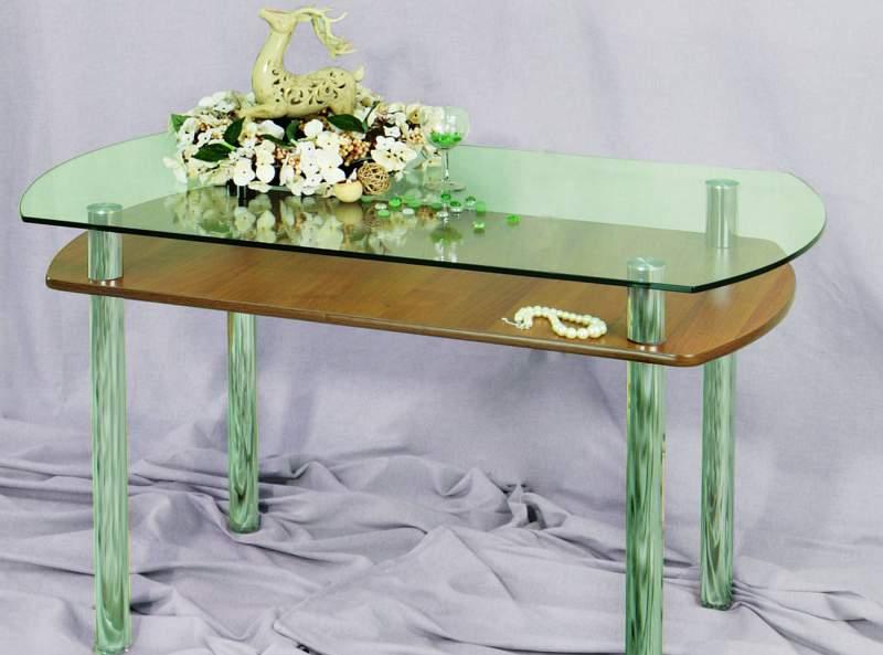 Кухонные и обеденные стеклянные столы для кухни в Казани