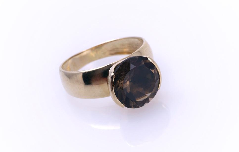Кольцо золотое с топазом Артикул: К041