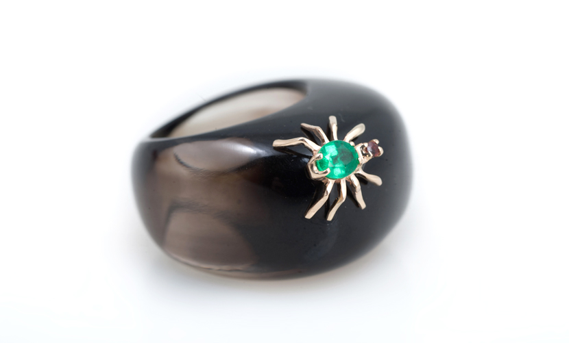 Кольцо из раух-топаза Артикул: К200