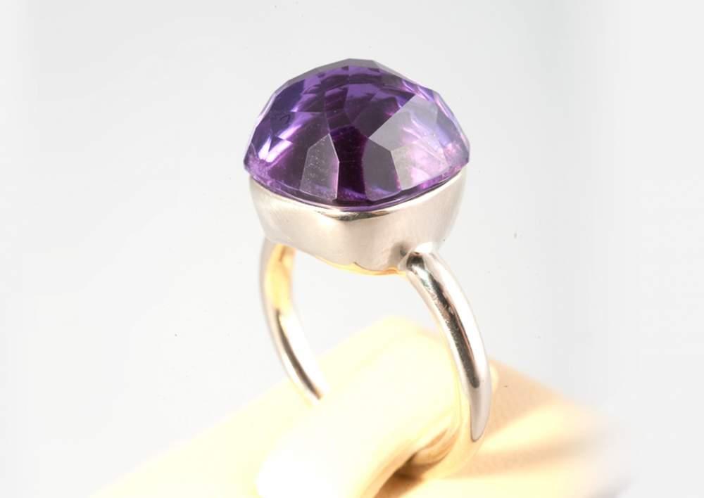 Кольцо с аметистом Артикул: К091