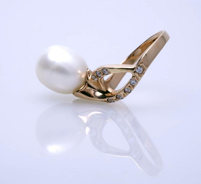 Кольцо с жемчугом Артикул: К014