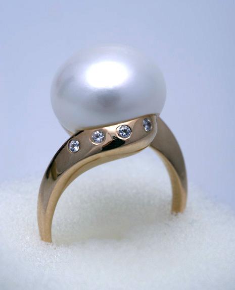 Кольцо с жемчугом Артикул: К039