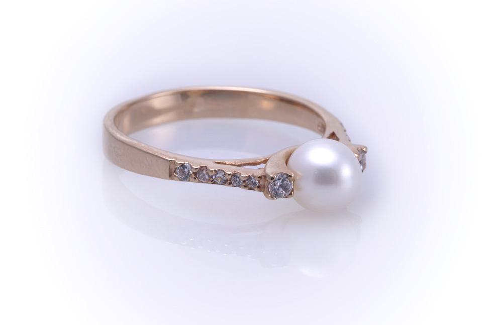 Кольцо с жемчугом Артикул: К031