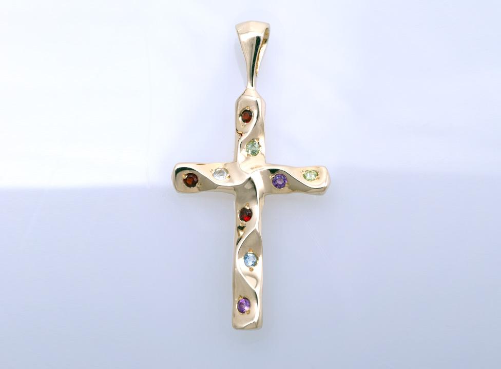 Крестик золотой Артикул: П006