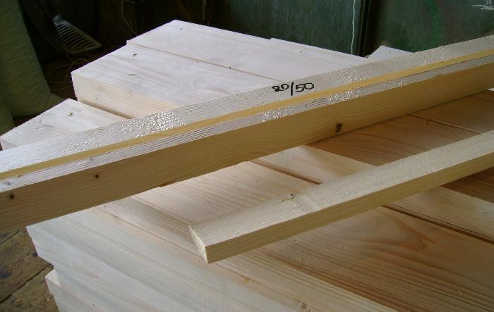 Рейка монтажная деревянная - сосна