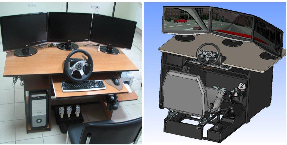 Автомобильный тренажерный комплекс, лабораторно-практический.