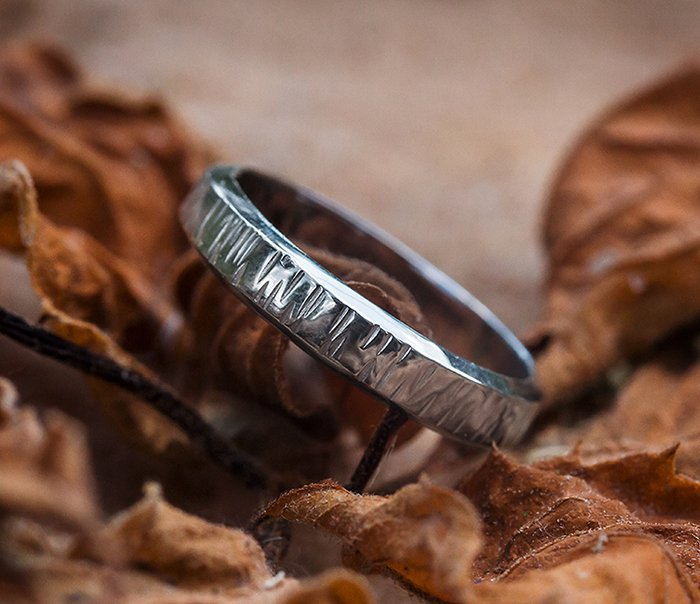 Buy Hammered ring ring