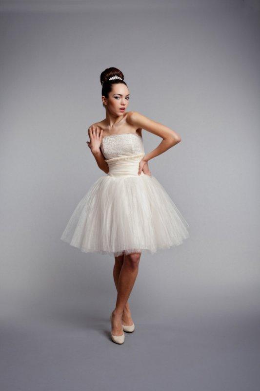 Коротке пишне весільне плаття в стилі ретро купити в Київ 1f74c31371162