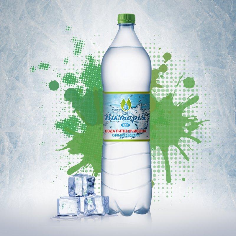 Вода питьевая очищенная газированная