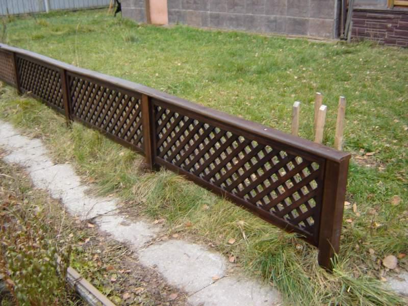Декоративный заборчик для сада своими руками фото