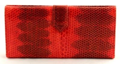 Купюрник из кожи змеи  (N -3413 red)