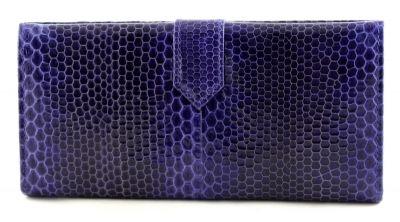 Купюрник из кожи змеи  (N -5413 dark blue)
