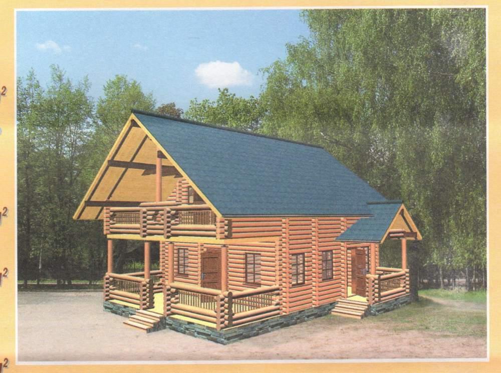 Изготовление домов из дикого сруба Украина